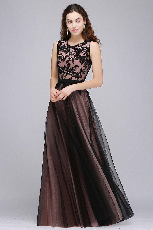 Dlouhé společenské šaty s tylovou sukní - černá + růžová 228d2bdb09