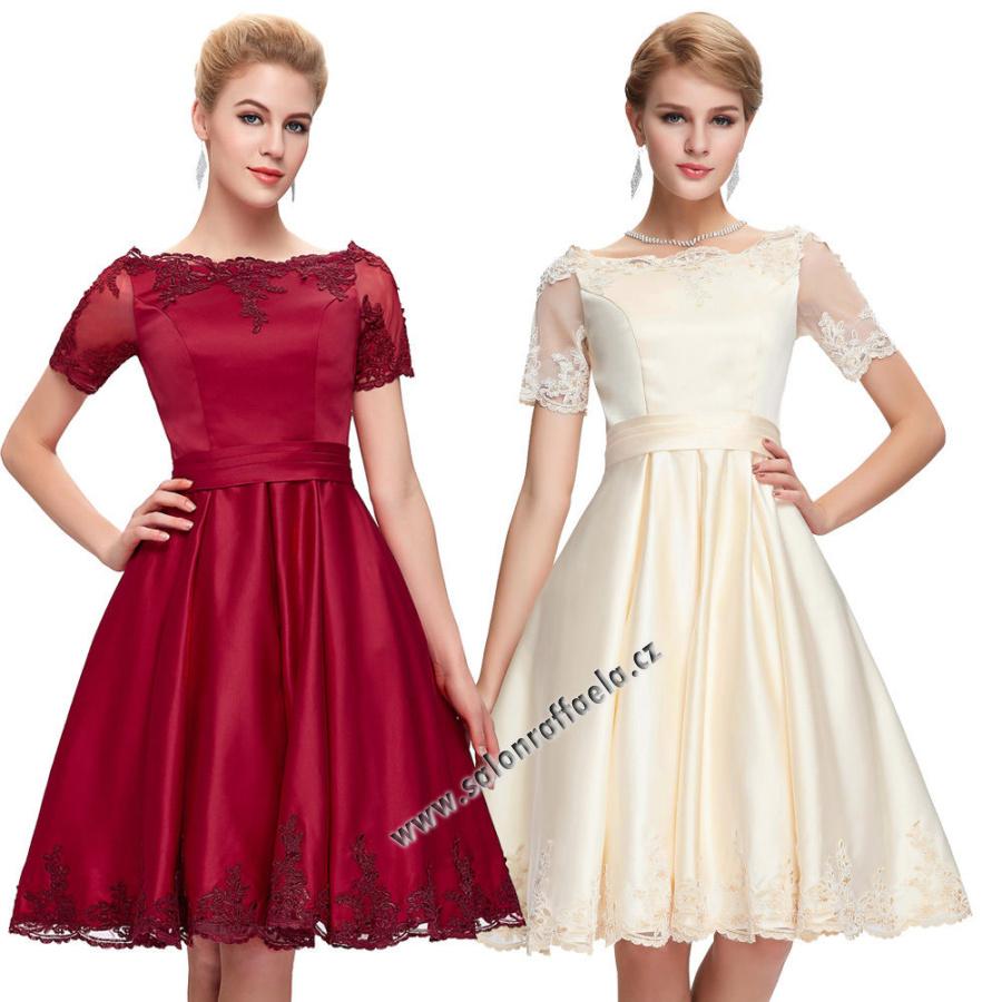 6b86a8e7f1ac Krátké saténové šaty vhodné také jako svatební