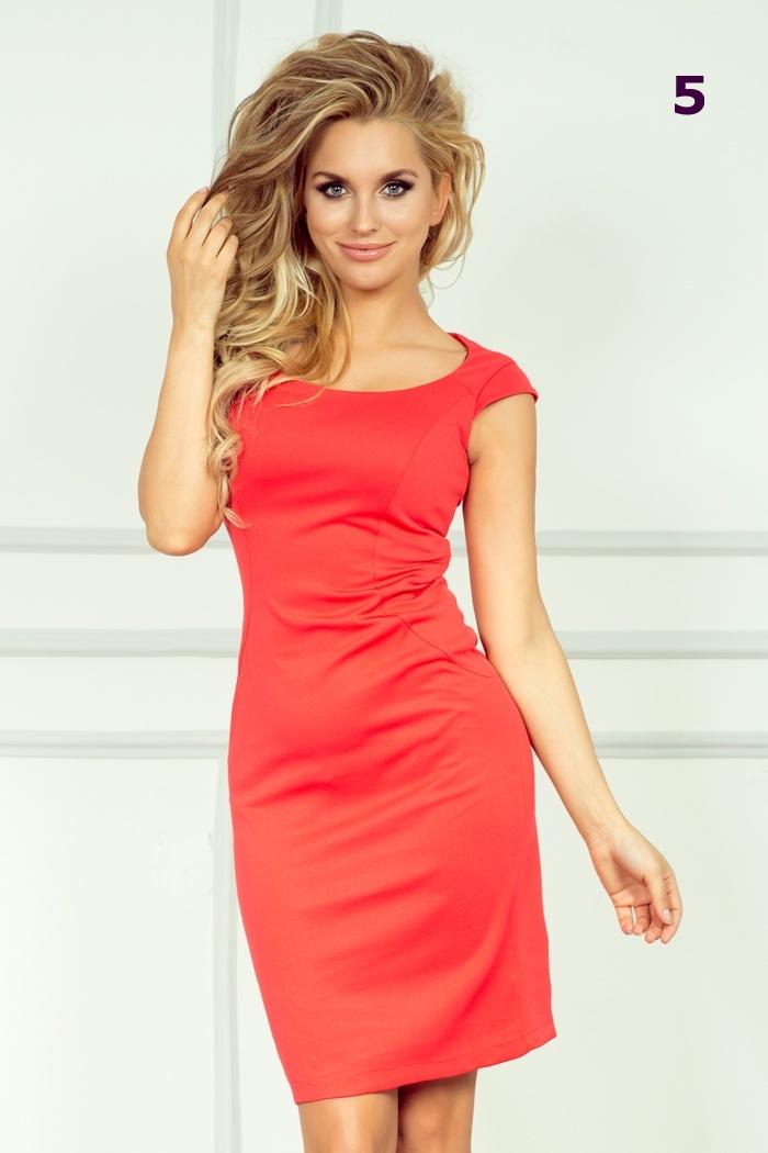 0af94a4a85fa Pouzdrové společenské šaty s krátkým rukávem - vel. 38 M