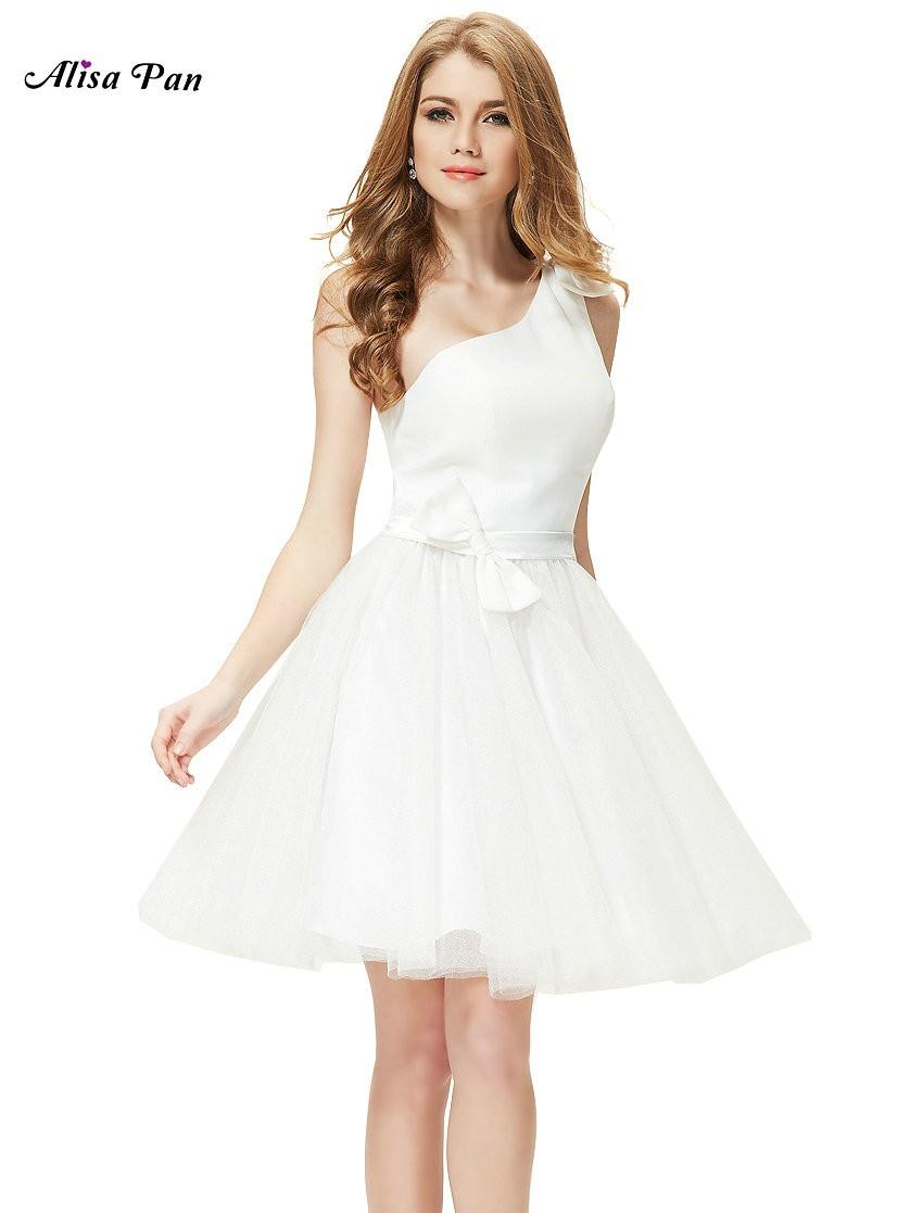 45d892c09ca Krátké bílé společenské šaty s tylovou sukní