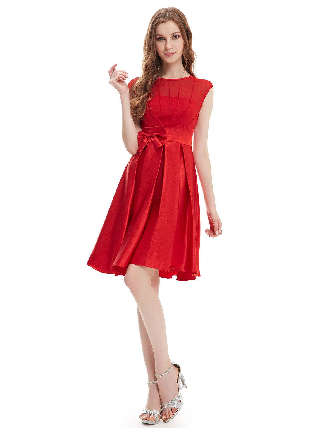 876802046b60 Červené koktejlky se saténovou sukní