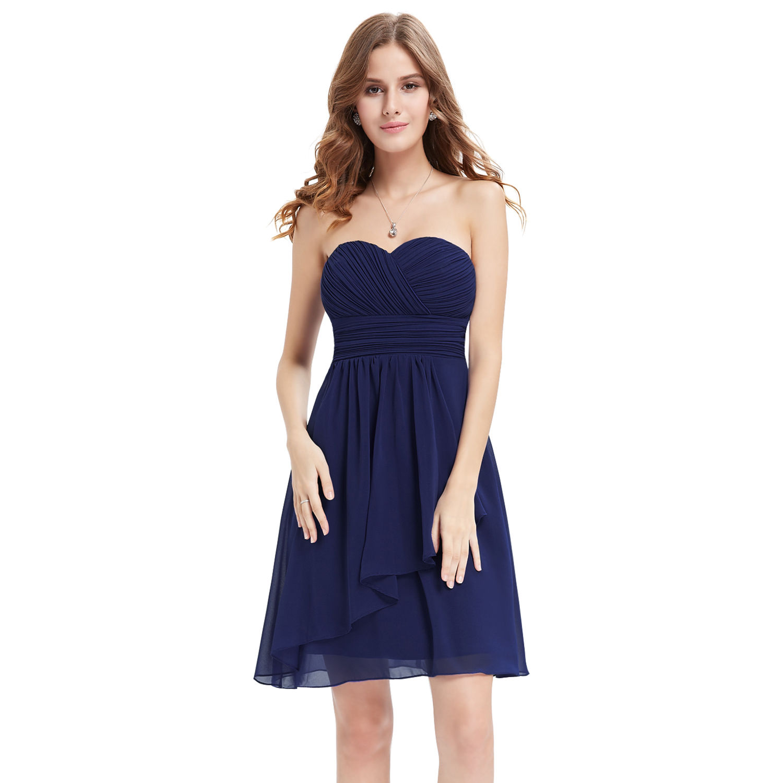 Temně modré krátké společenské šaty 5ad2b4ba40