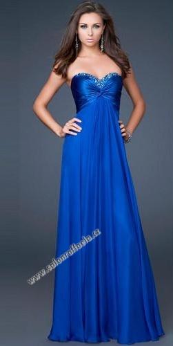 293eda0c6794 Dlouhé večerní šaty v královsky modré barvě