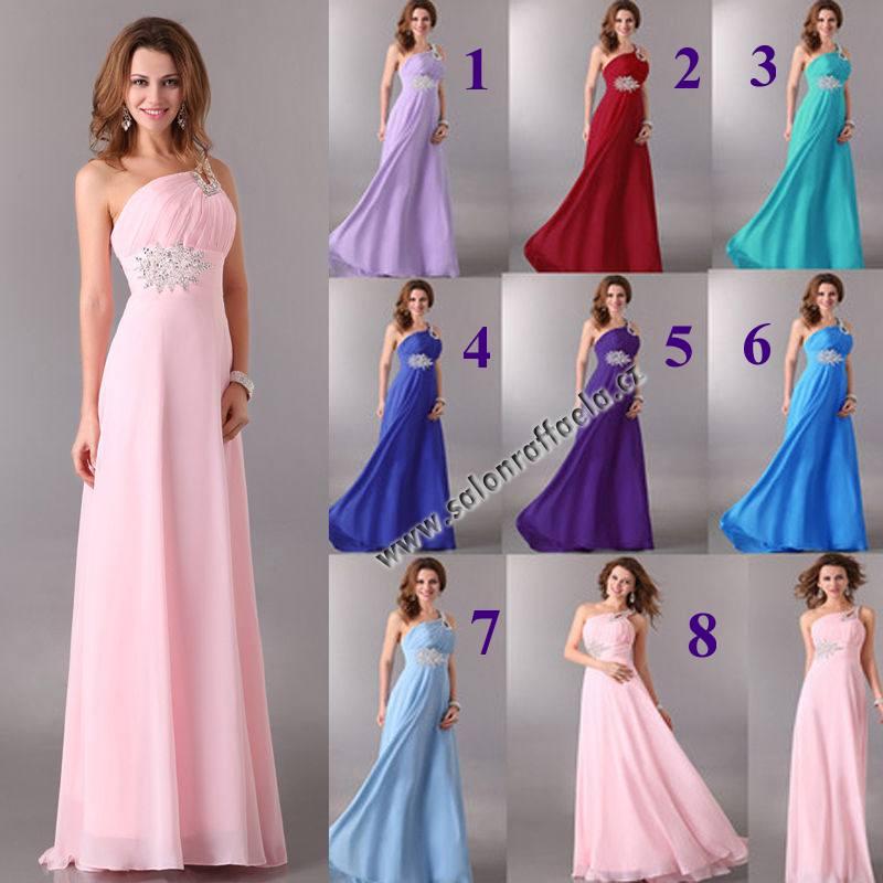 Dlouhé společenské šaty s překřížením na zádech 96f9573fbb