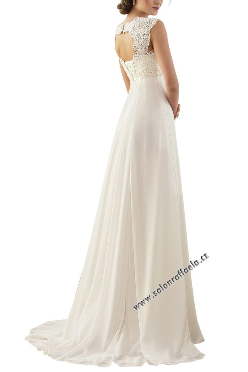 b6160f0bed8a Kompletní specifikace · Související zboží. Antické svatební šaty s  průstřihem na zádech
